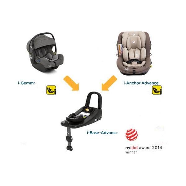 Pachet scaun auto Joie i-Anchor Advance + bază ISOfix i-size + scoica auto Joie i-Gemm